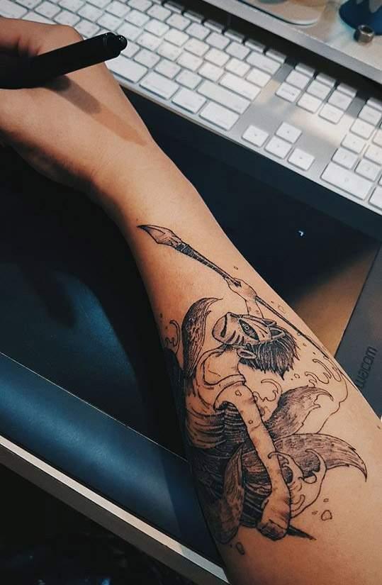 這個刺青,送給自己還沒跟著長大的靈魂。