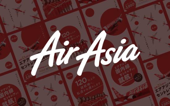 【品牌設計】AirAsia 日本國內線開航 平面視覺設計