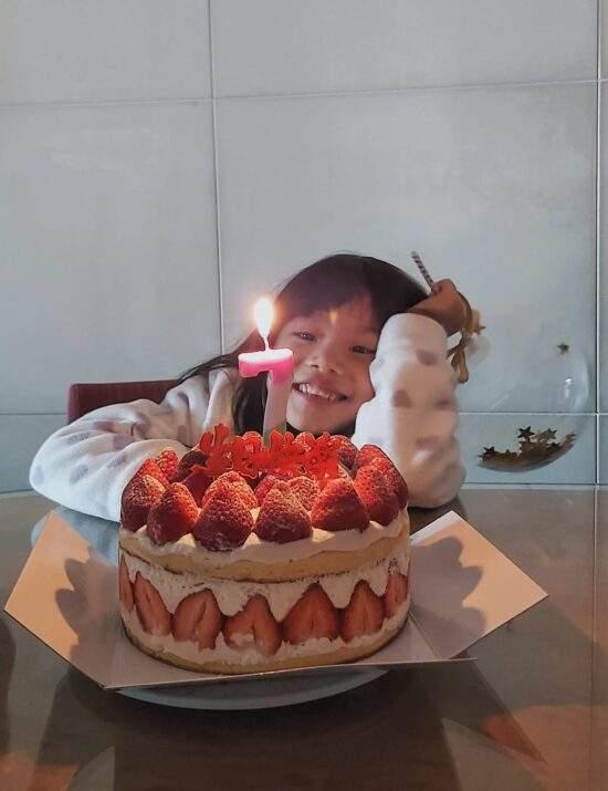 七歲生日快樂,我的寶貝。